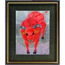 河嶋淳司「牛 -静かな赤-」のサムネイル画像