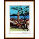ベルナール・ビュッフェ「サントロペ 教会と湾」のサムネイル画像