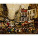 児玉幸雄「パリーの朝市」のサムネイル画像