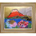 片岡球子「牡丹咲く富士」のサムネイル画像