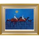 平山郁夫「月下らくだ行」のサムネイル画像