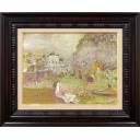 織田廣喜「森のレストラン風景」のサムネイル画像