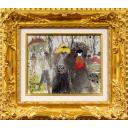 織田廣喜「並木の女達」のサムネイル画像