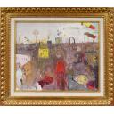 織田廣喜「シャンゼリゼ風景(赤い服の女性)」のサムネイル画像