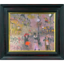 織田廣喜「シャンゼリゼ風景(時計)」のサムネイル画像