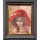 織田廣喜「少女(赤い帽子1)」のサムネイル画像