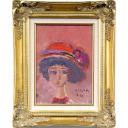 織田廣喜「少女(赤い帽子3)」のサムネイル画像