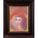 織田廣喜「少女(赤い帽子5)」のサムネイル画像