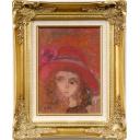 織田廣喜「少女(赤い帽子6)」のサムネイル画像