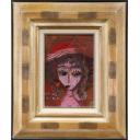 織田廣喜「少女(赤い帽子7)」のサムネイル画像