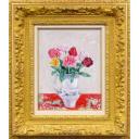 吉井淳二「霞草と薔薇」のサムネイル画像