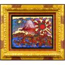 絹谷幸二「朝光誉れ赤富士」のサムネイル画像