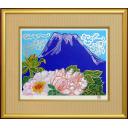 片岡球子「牡丹と青富士」のサムネイル画像