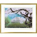 中島千波「櫻花霞富士(2)」のサムネイル画像