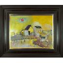織田廣喜「少女と水車風景」のサムネイル画像