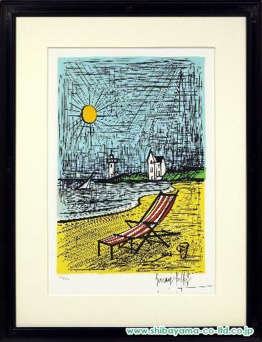 ビュッフェ「海岸のベンチ」sリトグラフ