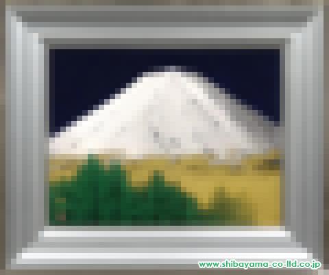 中路融人「富士山」s日本画10号
