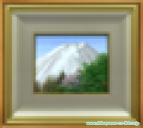清水規「富士芳春」s日本画3号
