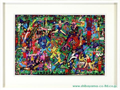 ジェームス・リジィ「THE OLYMPIC SPIRIT」s3Dシルクスクリーン
