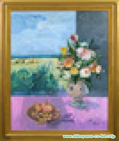 ゴリチ「花束」油彩40号