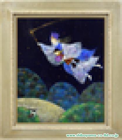 前田麻里「保星屑の街」油彩12号