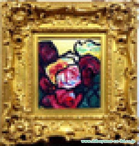 林武「薔薇」油彩27.1×24.1cm