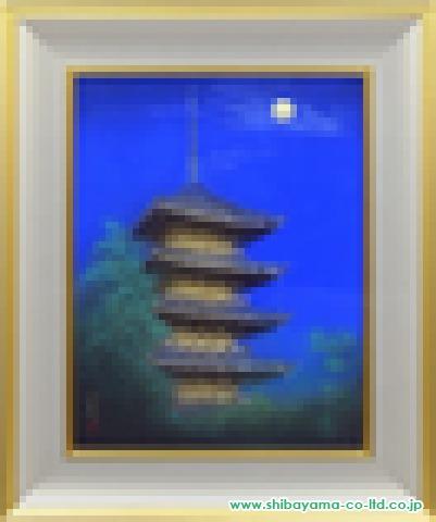 岩波昭彦「東寺」日本画10号