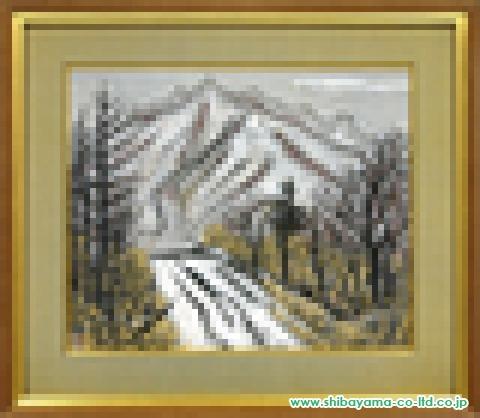 山本岳人「雪路」日本画47.0×57.0