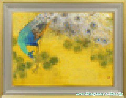 菅原百佳「白孔雀」日本画