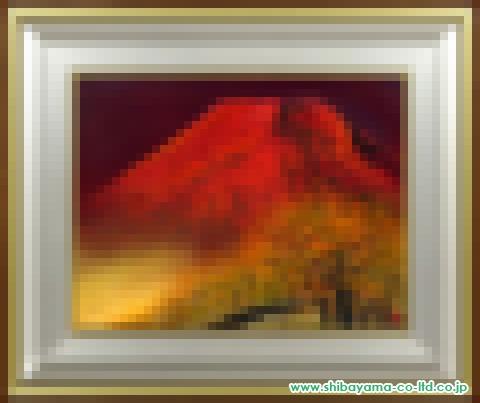 木村圭吾「赤富士」日本画10号