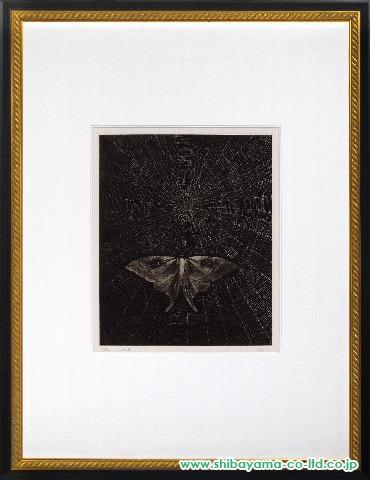 加山又造「蛾」s銅版画