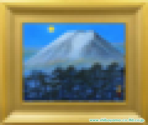 福王寺法林「寒月富士」s日本画10号