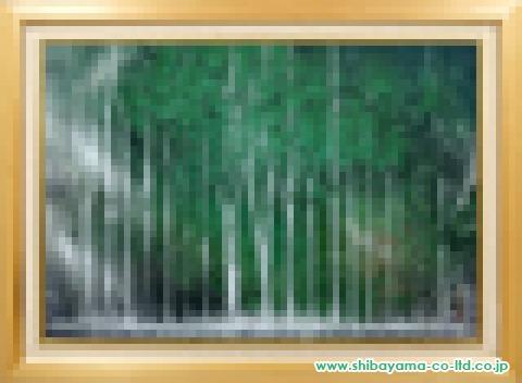 小川国亜起「白糸の滝」 日本画P50号
