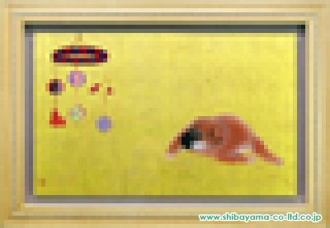 小山美和子「仔ーつり飾りー」日本画変20号