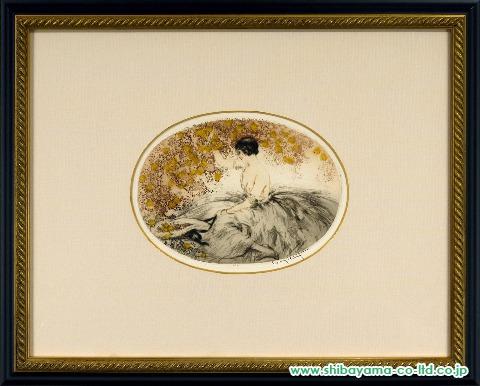 イカール「黄色い花」銅版画
