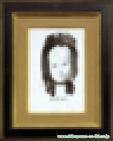 藤田嗣治「黒頭巾の子供」s墨6号