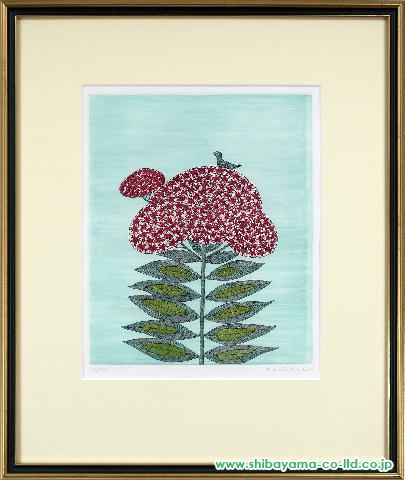 南桂子「花」s銅版画