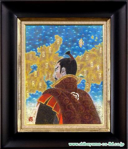 戸屋勝利「信長」日本画6号