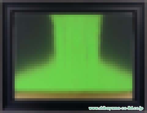 千住博「フォーリングカラー(グリーン+金)」日本画P30号