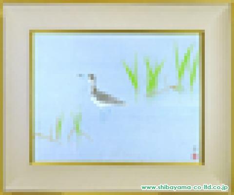 上村淳之「鴨」(描き直し)日本画10号s