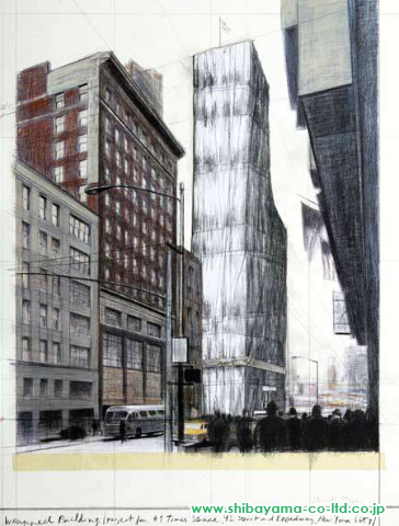 cristoWrapped Building (Project for #1 Times Square, 42 Street and Broadway, New York City)