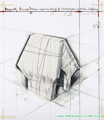 Christo and Jeanne-ClaudeWrapped Snoopy House, Project for Charles M. Schulz Museum , 2004