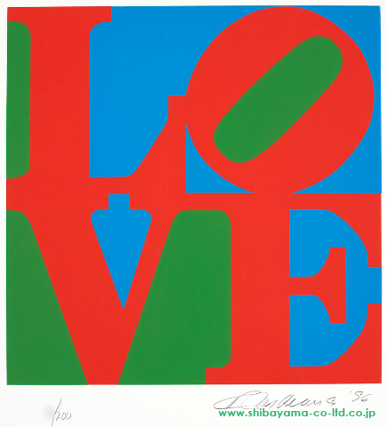 Robert Indiana_The_Book_of_Love_one_plate,1996