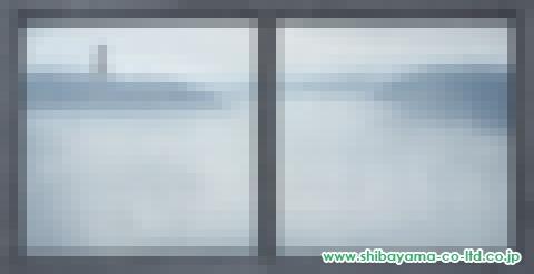 宏二郎「窓の向こうー2」油彩