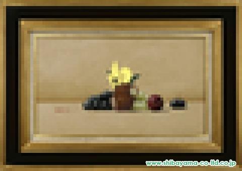 大竹山規「パンジーのある静物」油彩M8号