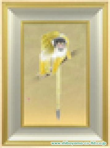 武蔵原裕二「躍」日本画M10号