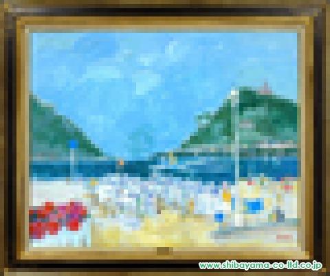 ゴリチ「サン・セバスチャン湾」油彩40号