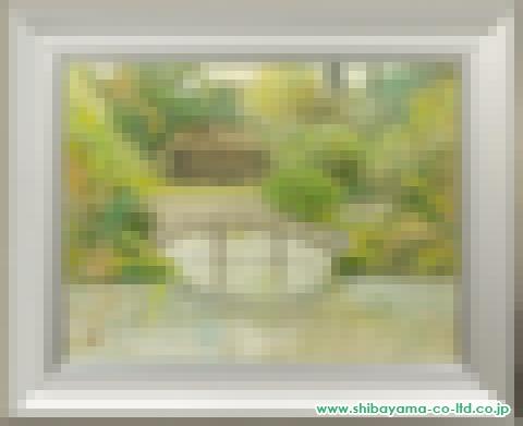 伊藤髟耳「翠(仙洞御所)」日本画P15号