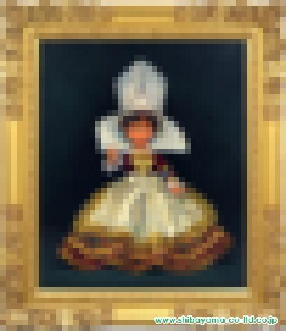 五味悌四郎「フランス人形」油彩20号