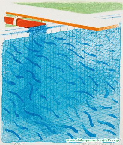 Pool made with Paper and Blue Ink for Book, 1980s